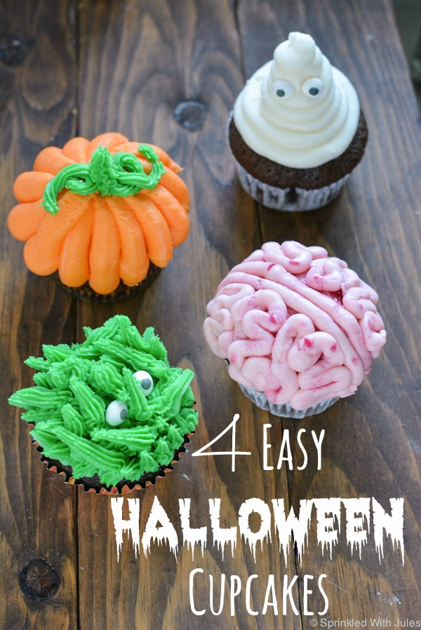 4 Easy Halloween Cupcake Ideas   Sprinkled With Jules