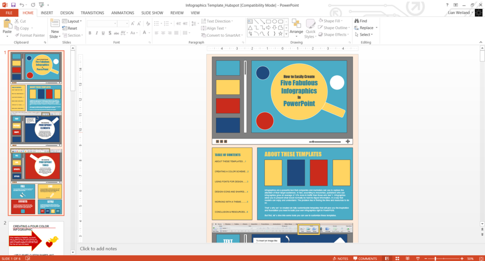 How to create your own infographic with powerpoint and 6 templates to