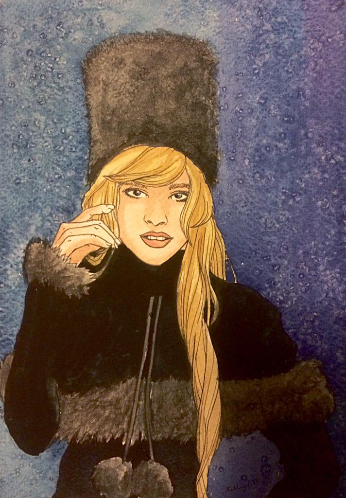 Maetel Watercolor. Finally feel like these shoujo watercolors are coming along.