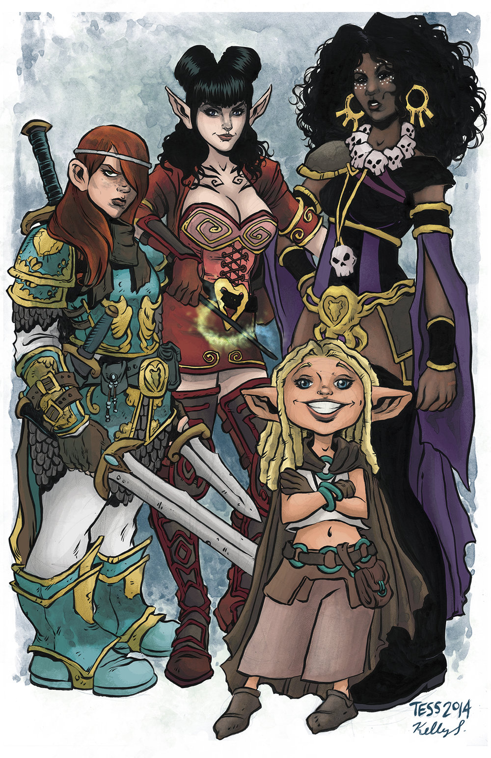 Rat Queens pin-up! Inks by the amazing Tess Fowler. Colors by Kelly Fitzpatrick Original here:http://tessfowler.tumblr.com/post/79638507927/rat-queens-fan-art-by-tess-fowler-rat-queens-is Happy Colorist Appreciation Day!!