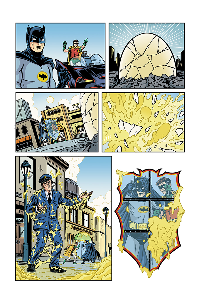 brentschoonover: Lots going on today that I almost forgot the first chapter of my Batman '66 issue is digitally released today. Written by Jeff Parker, drawn by myself, and colored by Kelly Fitzpatrick! Featuring Egghead. Here's a link to buy it on Comixology along with a one page preview. https://www.comixology.com/Batman-66-44/digital-comic/145391 So super stoked about this!! I will post a proper update on this when the full issue is coming out in print! AHHH!!! DC!!!!!!! AHHHH!!!!! BATMAN '66!!!!!!! SO EXCITED!!!!!!!!!