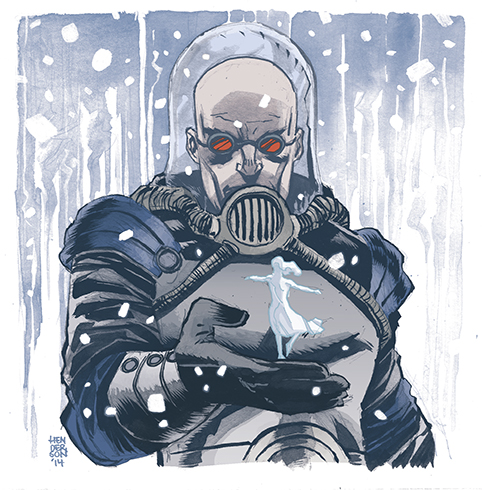 Mr. Freeze sketch by Mike Henderson/ colors by Kelly Fitzpatrick    http://mikeshenderson.blogspot.com/