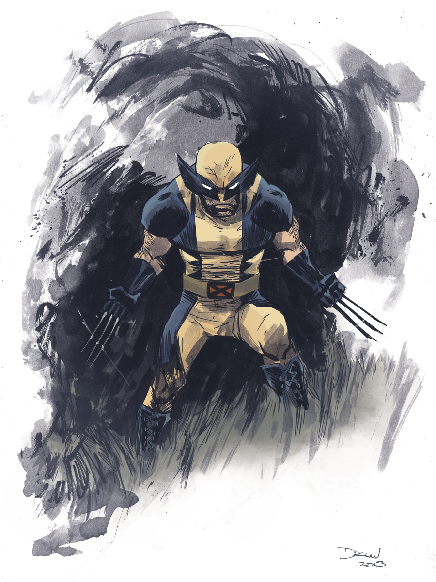 Wolverine NYCC illustration by Declan Shalvey/ colors by Kelly Fitzpatrick http://dshalv.blogspot.ie http://dshalv.tumblr.com/