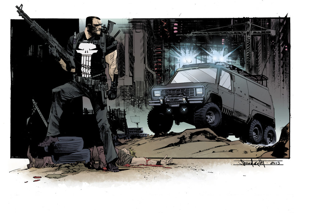 Punisher illustration by Sean Murphy/ colors by Kelly Fitzpatrick  http://seangordonmurphy.com/ http://seangordonmurphy.deviantart.com/