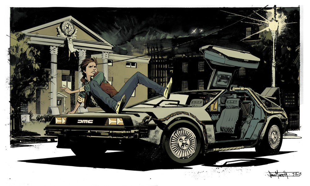 Back to the Future illustration by Sean Murphy/ colors by Kelly Fitzpatrick  http://seangordonmurphy.com/ http://seangordonmurphy.deviantart.com/