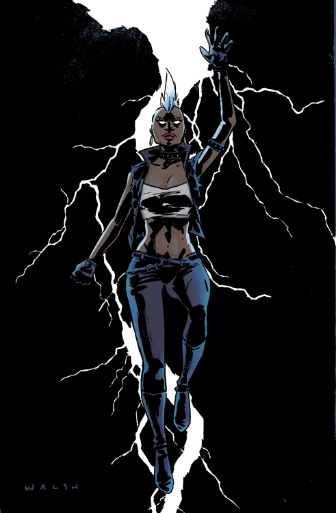 Storm illustration by Michael Walsh.   I colored this awesome drawing of {mohawk} Storm from X-men. Drawing credits and thanks to Michael Walsh (Amazing work. Check it out here:  http://misterwalsh.tumblr.com /)