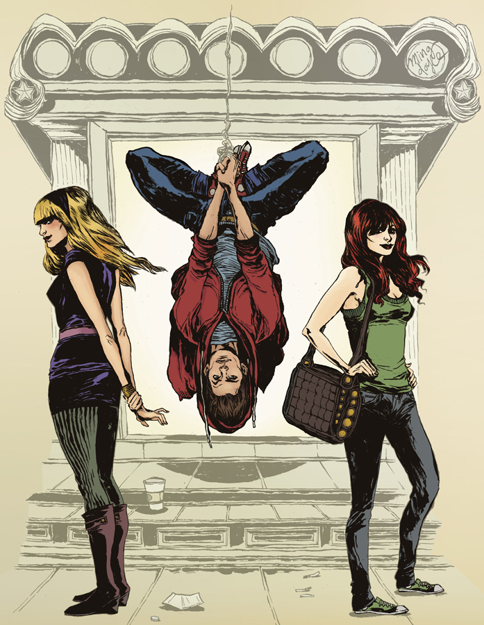 Spiderman trio drawing by Ming Doyle. Colored by myself.   I colored this killer drawing by Ming Doyle. Many thanks to Ming for sending me a super nice version of this drawing and letting me post this to my blog. The original can be seen here:   Gwen Stacy, Mary Jane, and Peter Parker