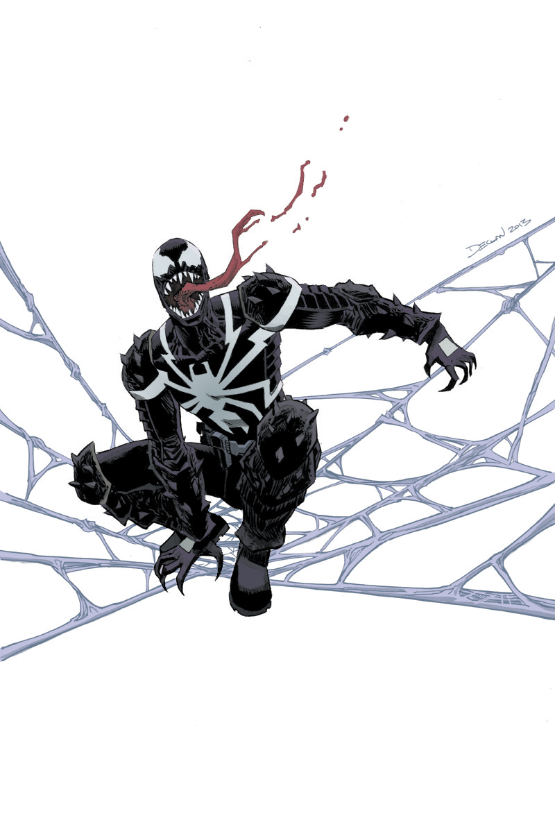 Venom sketch by Declan Shalvey.   I colored this awesome piece by Declan. Going to start putting in more time to post things I've colored. Many many thanks to Declan for letting me post this.