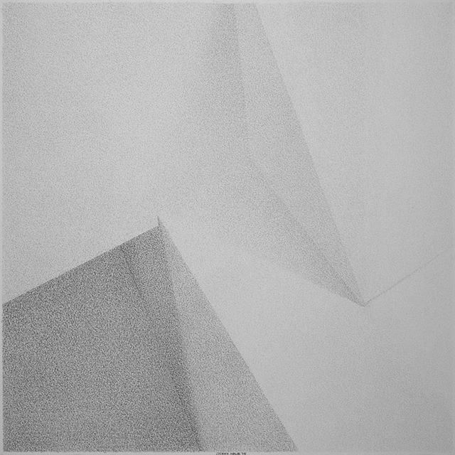 Colliding plates. Converging orbits. (Perspective 14: October 12, 1997 - October 12, 1998) [c. 2015 - charcoal on 250g paper - 18 1/4 in. x 18 1/4 in.] • • • • #modernart #modernartist #modernism #modernist #contemporaryart #contemporaryartist #minimal #minimalism #minimalist #minimalart #minimalmood #mindtheminimal #minimalove #mnml #minimalzine #minimalism42 #abstract #architecture #architectural #architexture #charcoal #blackandwhite #bw #shadow #lightandshadow #shadowplay #contrast #texture #geometry