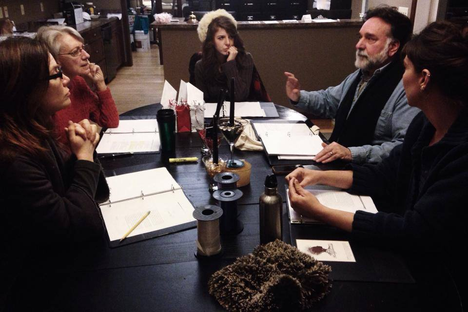 Rehearsal for Literary Series with Hedgebrook - March 2014 by Kathryn Morgen
