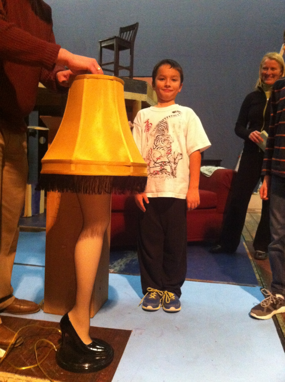 Waylan Parsell with the FRAGILE leg lamp!
