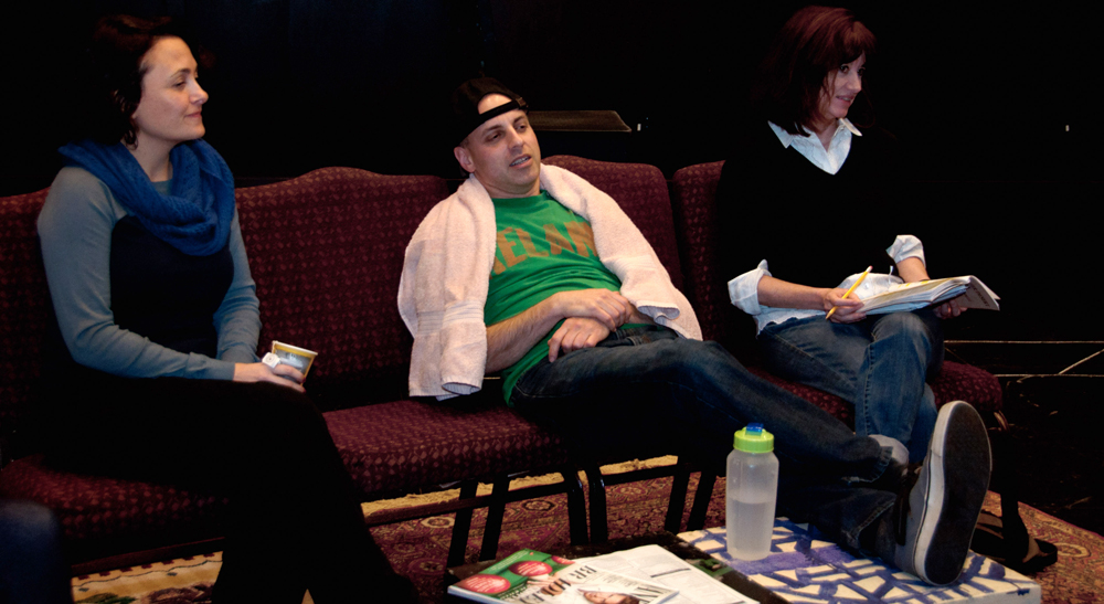 Lucy Pearce (Associate Director), David Mayer (Trip), Deana Duncan (Brooke),  Photo by Steve Ford