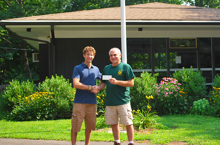 Derek Mirabilio (left) Vincent Lavorgna — Brooksvale Park Ranger (right)  July 7, 2014