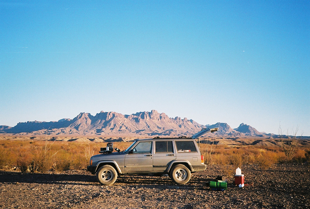 Breakfast in Big Bend National Park, TX.