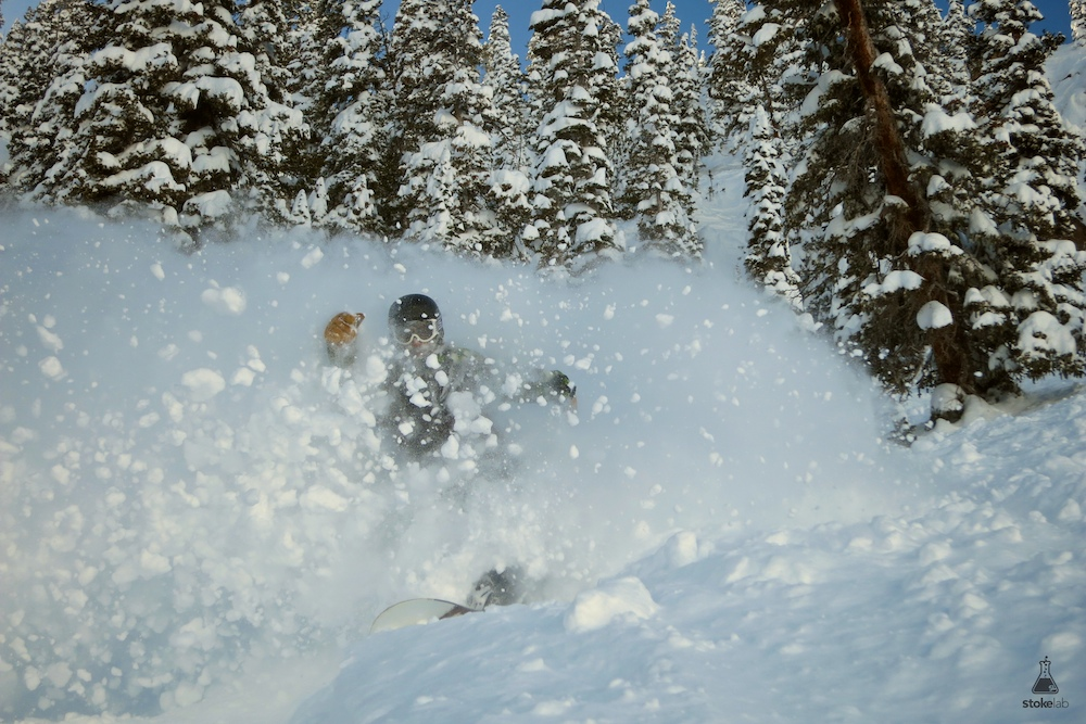 Jay Graceffa powers through the pow below High Life.