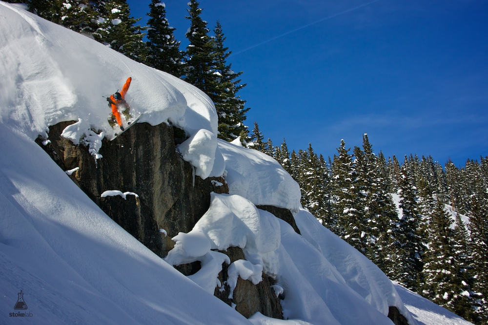Austin Gibney always gets his grab. Photo captured in the Crested Butte backcountry, Feb. 12, 2011.[photo] Mike Horn