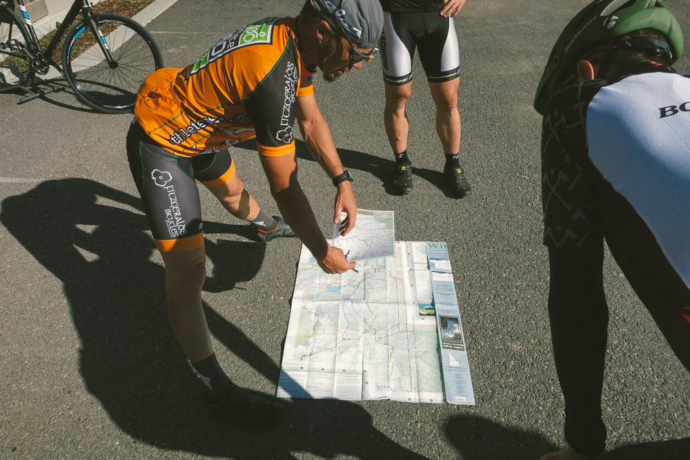 """Jay """"JP"""" Petervary shows us the roughly 150-mile route."""