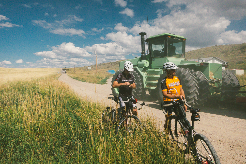 We saw some monster truck-sized equipment as we pedaled through farm country on Day 1.