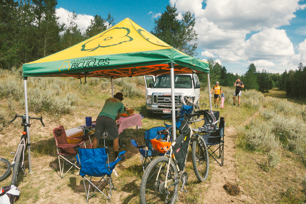 Xander kept us fueled with fat trailside lunches and provided shade from the intense sun.