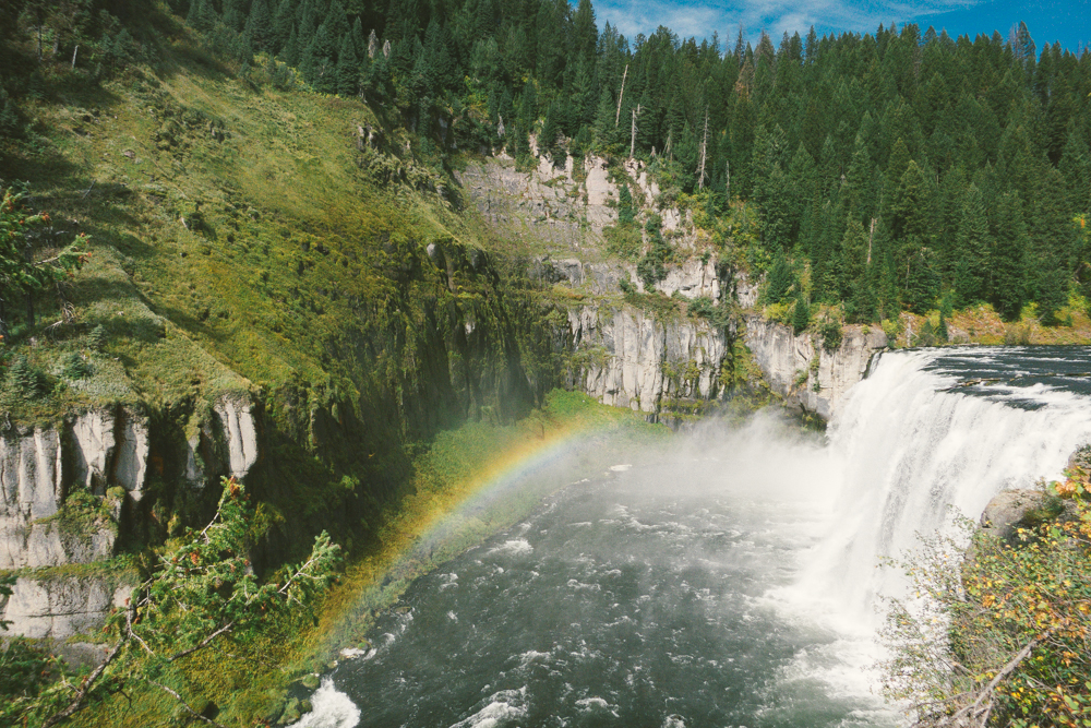 Out-of-this-world view of Mesa Falls.