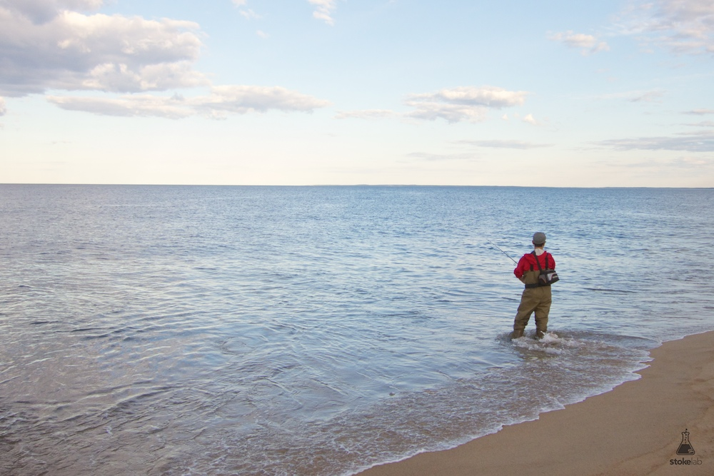 Plum Island is an 11-mile long barrier Island off the northeast coast of Massachusetts. Most beautiful places on the coast are packed on the weekends, but Plum Island was shockingly mellow during a recent trip. Maybe because the water was freezing—I took a couple polar plunges but calling it swimming would be an overstatement. Here a fisherman smartly-clad in waders casts into the great wide open.