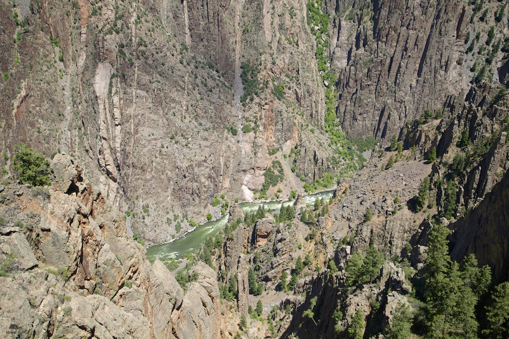 Designated a national park in 1999, the Black Canyon of the Gunnison is a sight to behold. Through its narrows the Gunnison River drops at an average of 95 feet per mile. By comparison, the Colorado River through Grand Canyon National Park drops an average of 7.5 feet per mile.