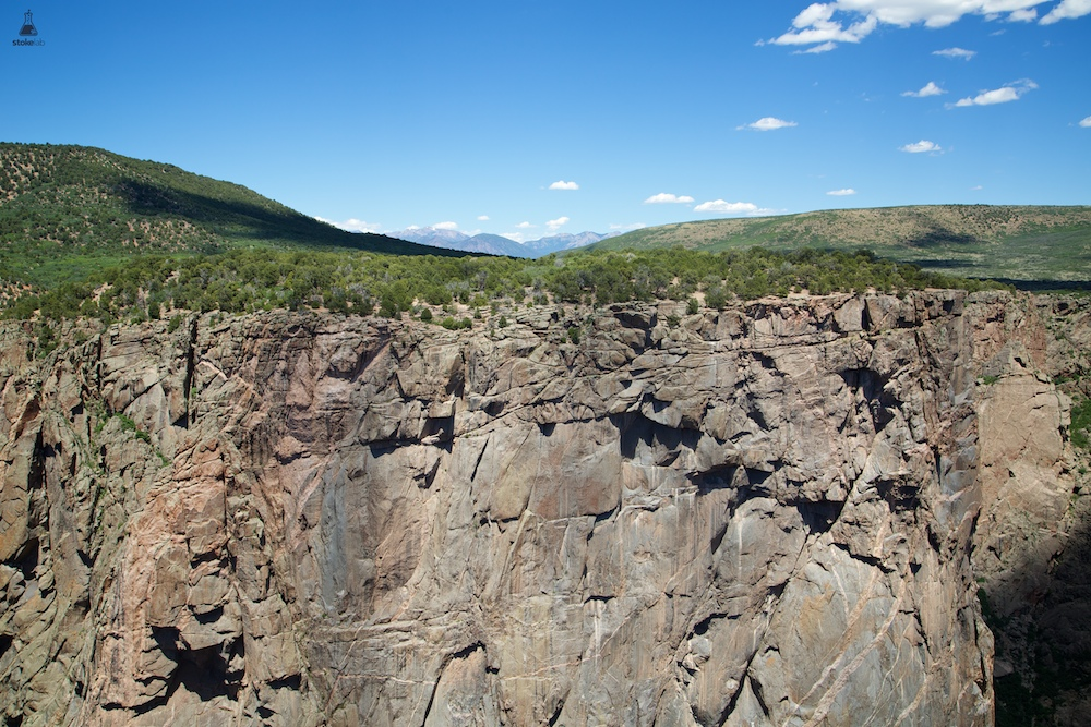"The Black Canyon contains some of the oldest exposed rock on Earth. Precambrian, or ""basement"" rock, is nearly 2 billion years old. Above the rim are forests of pinyon, juniper and scrub oak."