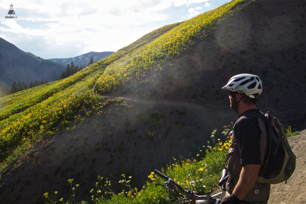 Trail 401 never disappoints, but this recent evening ride was exceptionally beautiful. DA soaks it in outside Crested Butte, CO.