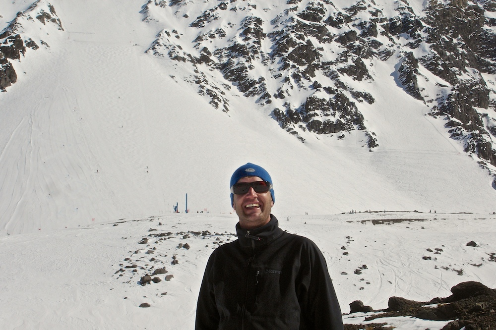 The author in Portillo, Chile.