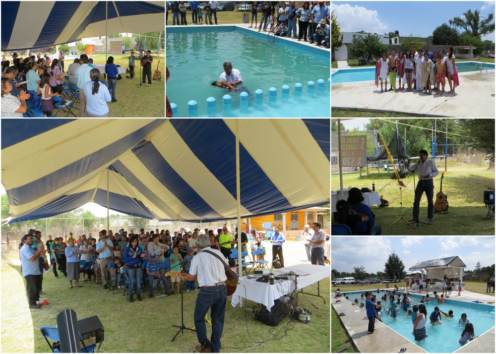 Joint Outing of Tizayuca & Heroes churches with baptisms, April 18, 2014