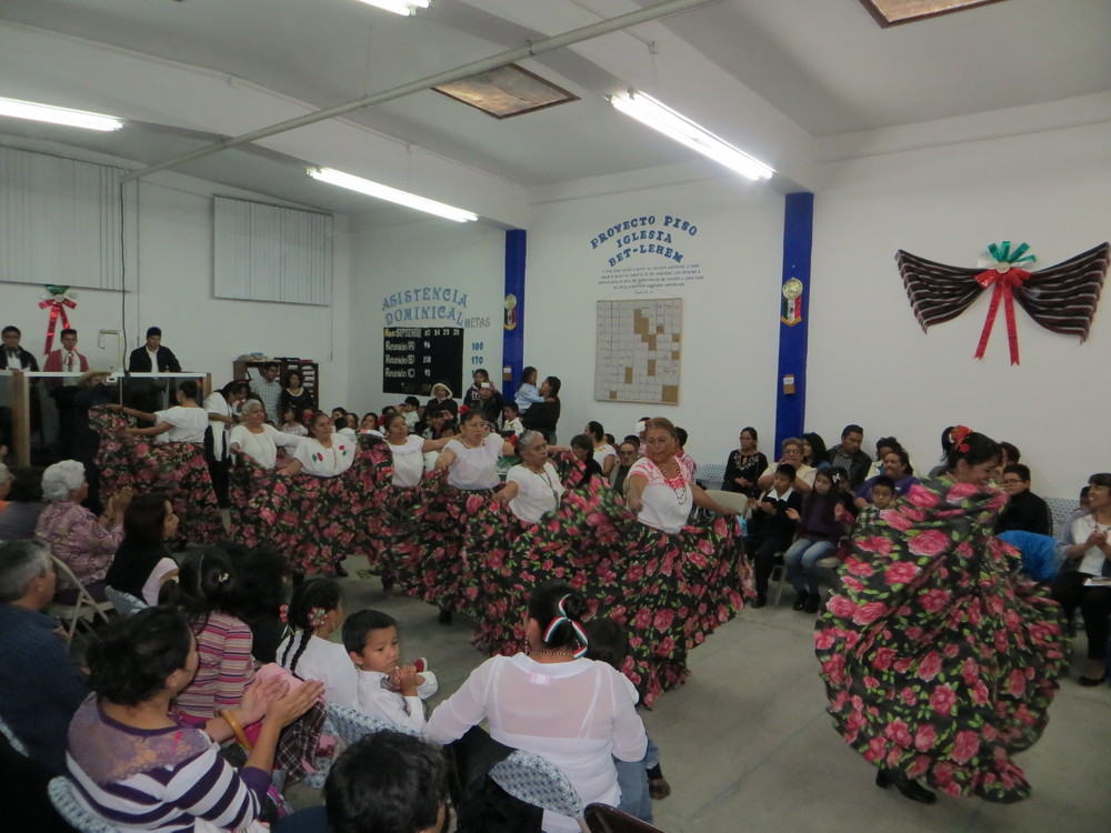 A traditional folkloric dance by some of the women of Bet-lehem