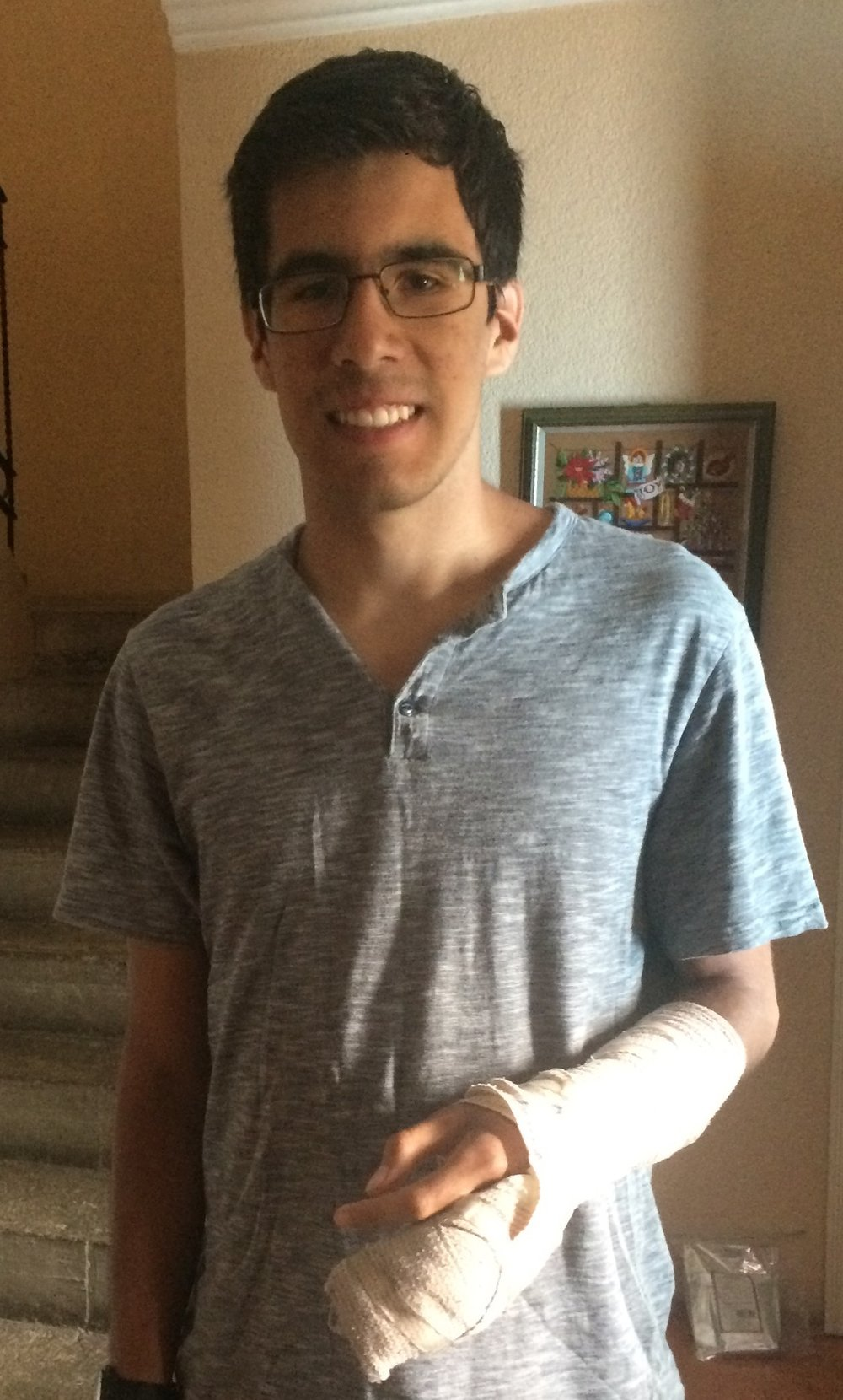 Halfway through Summit, Caleb dislocated and fractured a finger while white-water rafting. He quickly learned about US hospitals and insurance and ended up having surgery on his finger one day before returning to California. Talk about a crash course in independence!