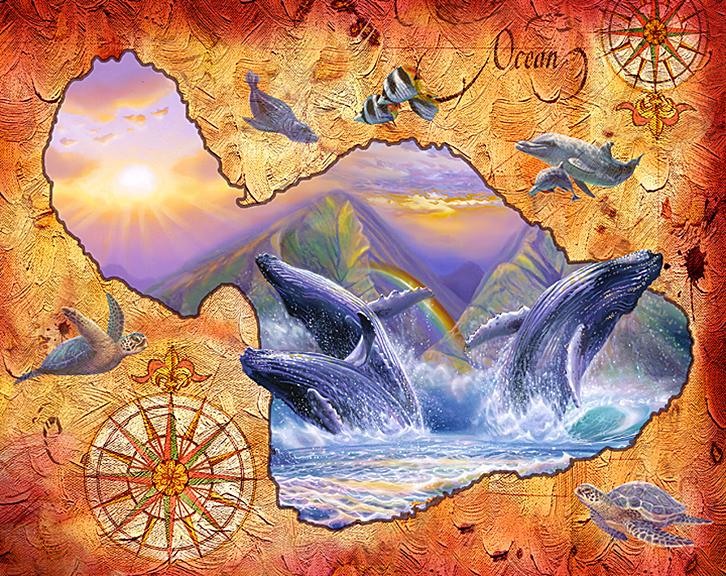 Whale Play & Maui map