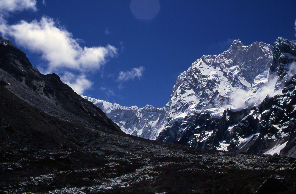 North face of Jannu from near Kambachen.