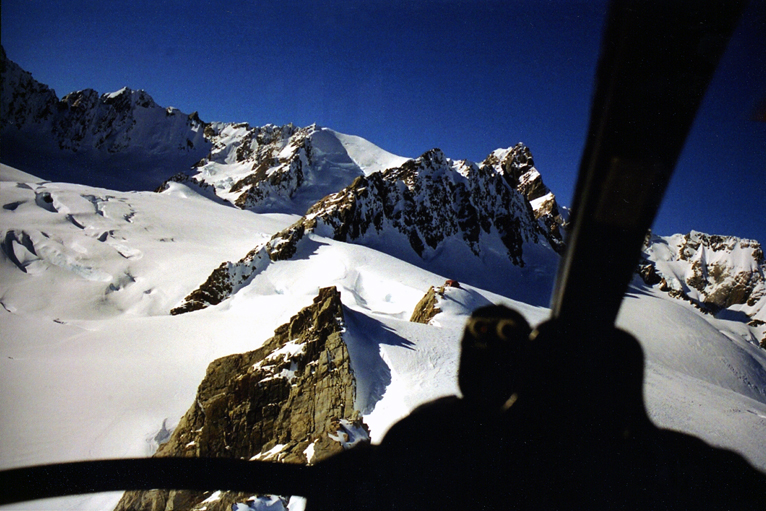 Helo'ing into Pioneer and Douglas Peak, winter 2006.