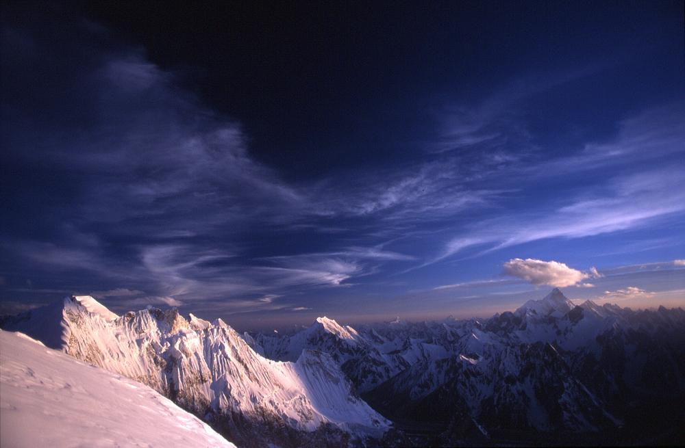 From the northwest ridge immediately prior to storm.