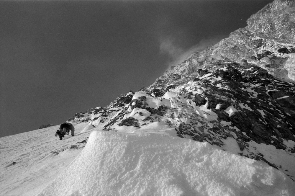 Athol on the west face, 2003.