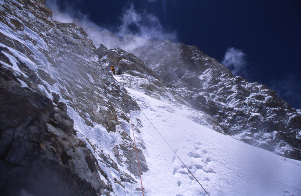 Climbing on the west face.