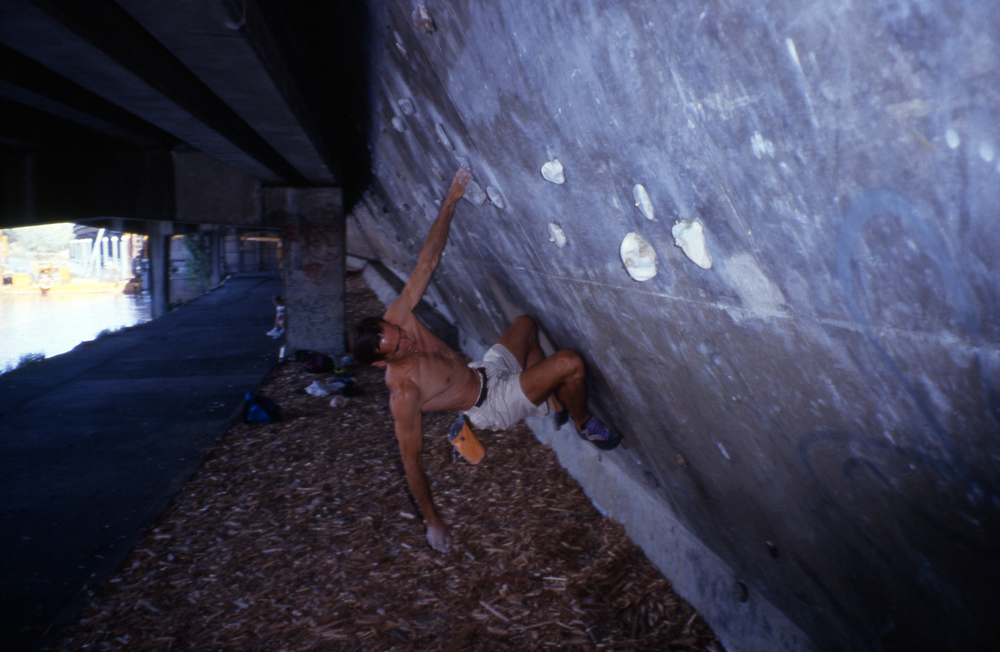 "Athol about to deal with the 3rd panel crux,  ""Burnley,"" Melbourne, 1994."