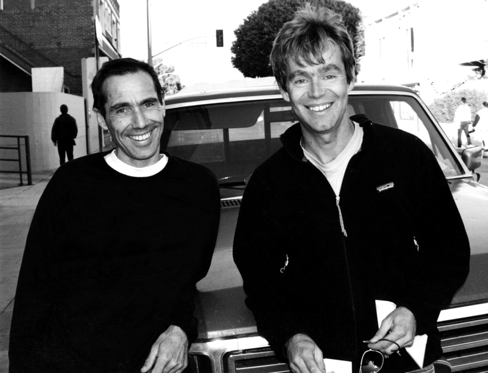 Athol with American alpinist and surfer Greg Crouch, Venica, CA, 1999. Greg released an updated profile he wrote on Athol and me for Climbing magazine in 2003. It is a moving memorial to Athol, and is available as an e-book on  amazon.com .
