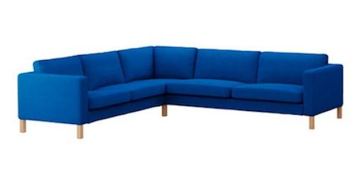 ikea karlstad corner sofa korndal med blue.png