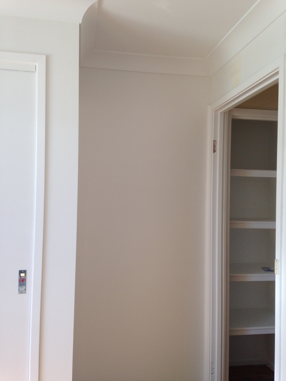 Love, love, love Dulux Natural White, so subtle but you can see the difference when it's next to Vivid White