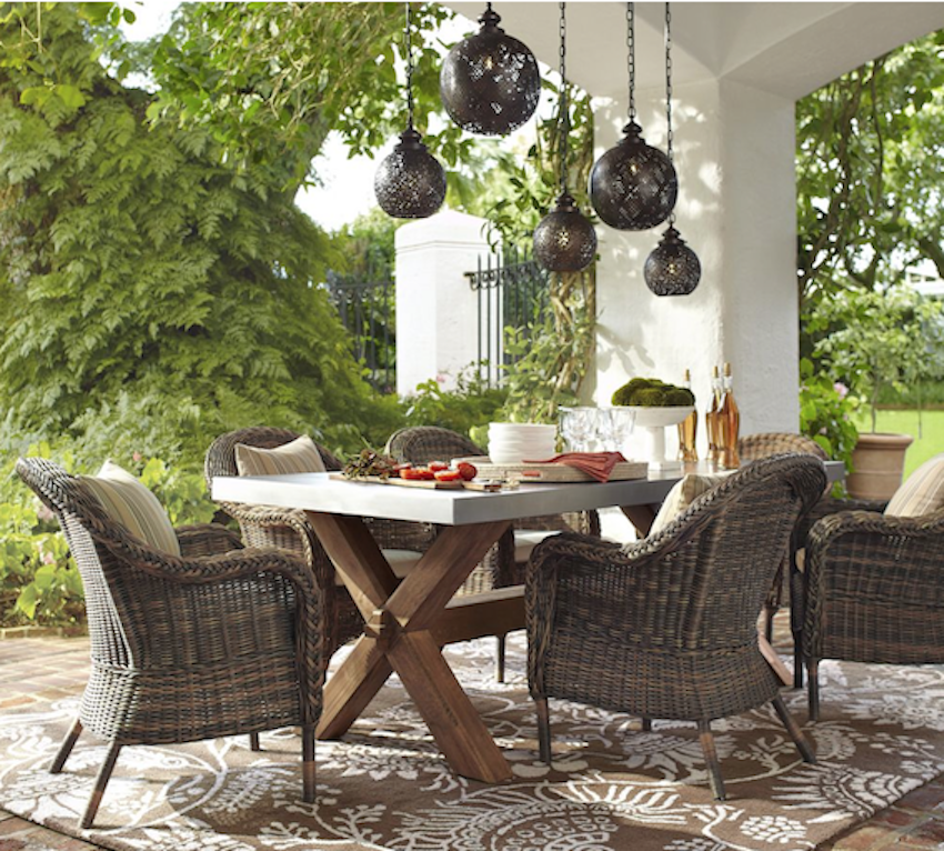 7 of the best outdoor dining dwell south coast for Patio decorating photos