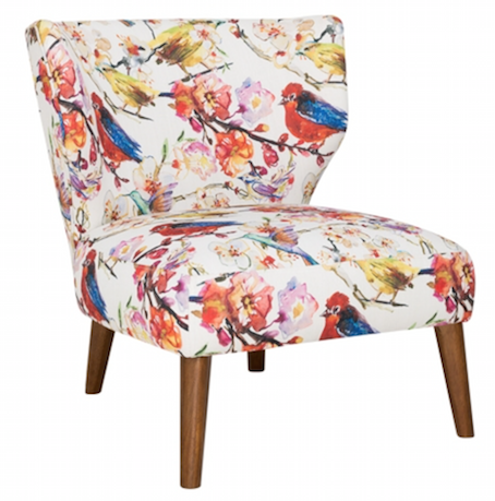 Andes Chair in 'Birds' fabric from Freedom