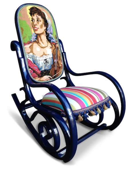 Cross-stitch Rocker from Rapt Upholstery