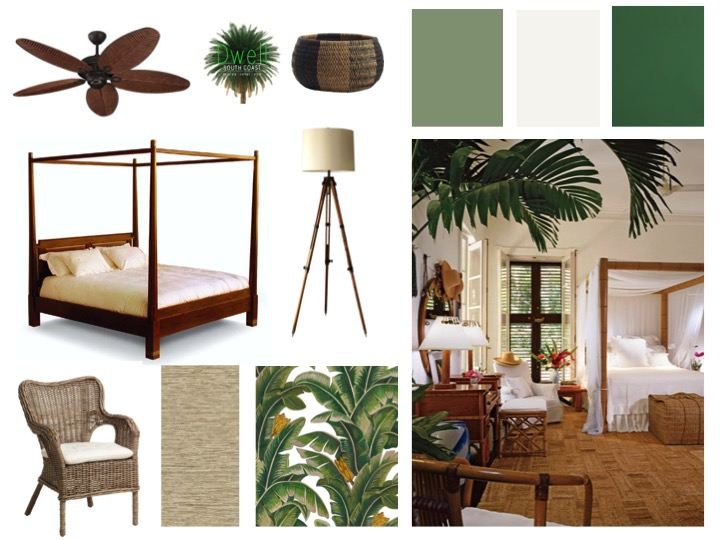 British Colonial Style Moodboard Dwell South Coast