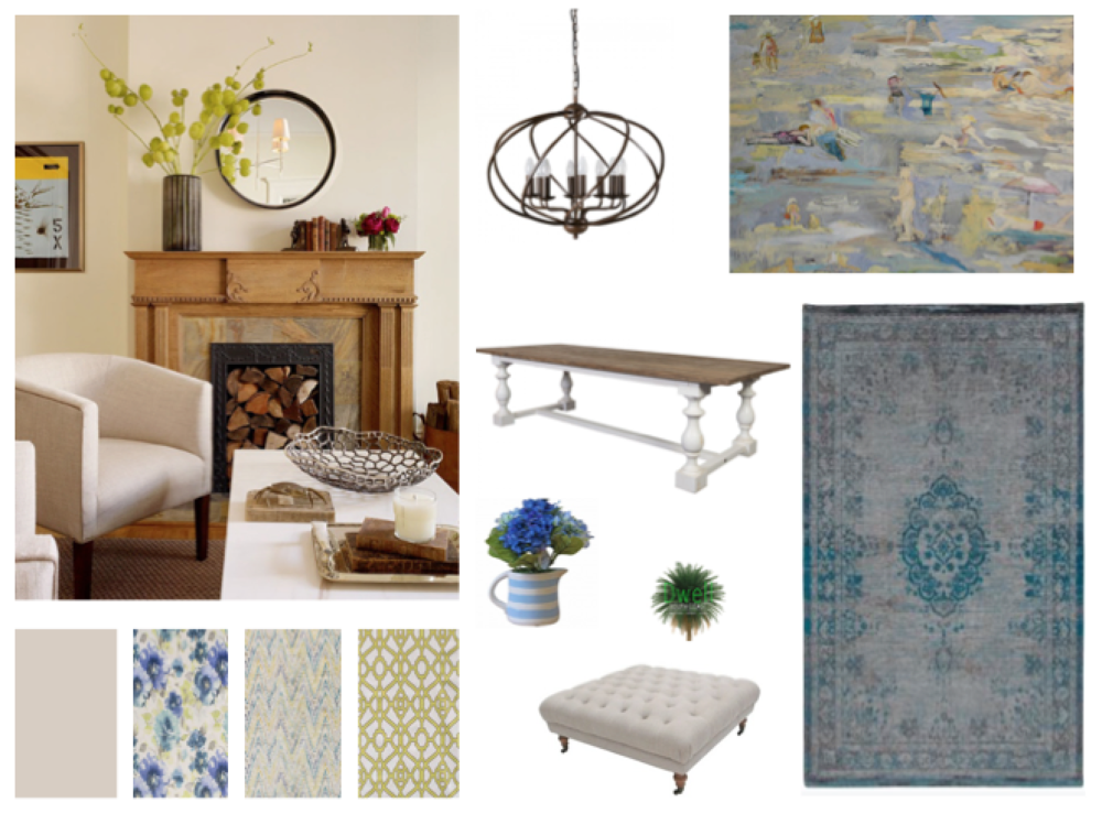 Moodboard created by Dwell South Coast