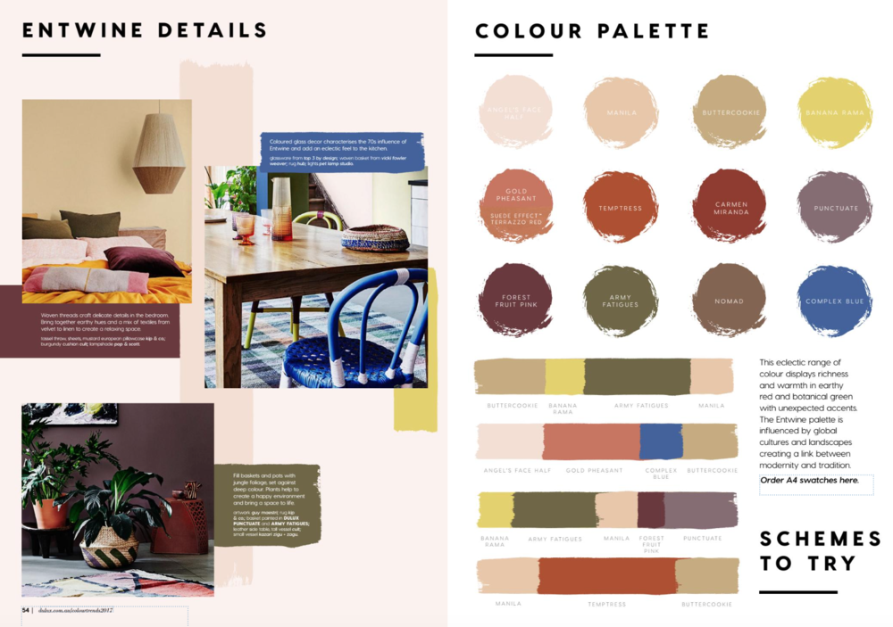 Dulux Colour Trend 2017 Entwine Dwell South Coast