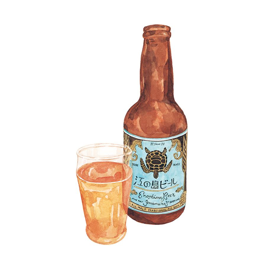 Justine-Wong-Illustration-21-Days-in-Japan-Enoshima-Local-Beer.jpg