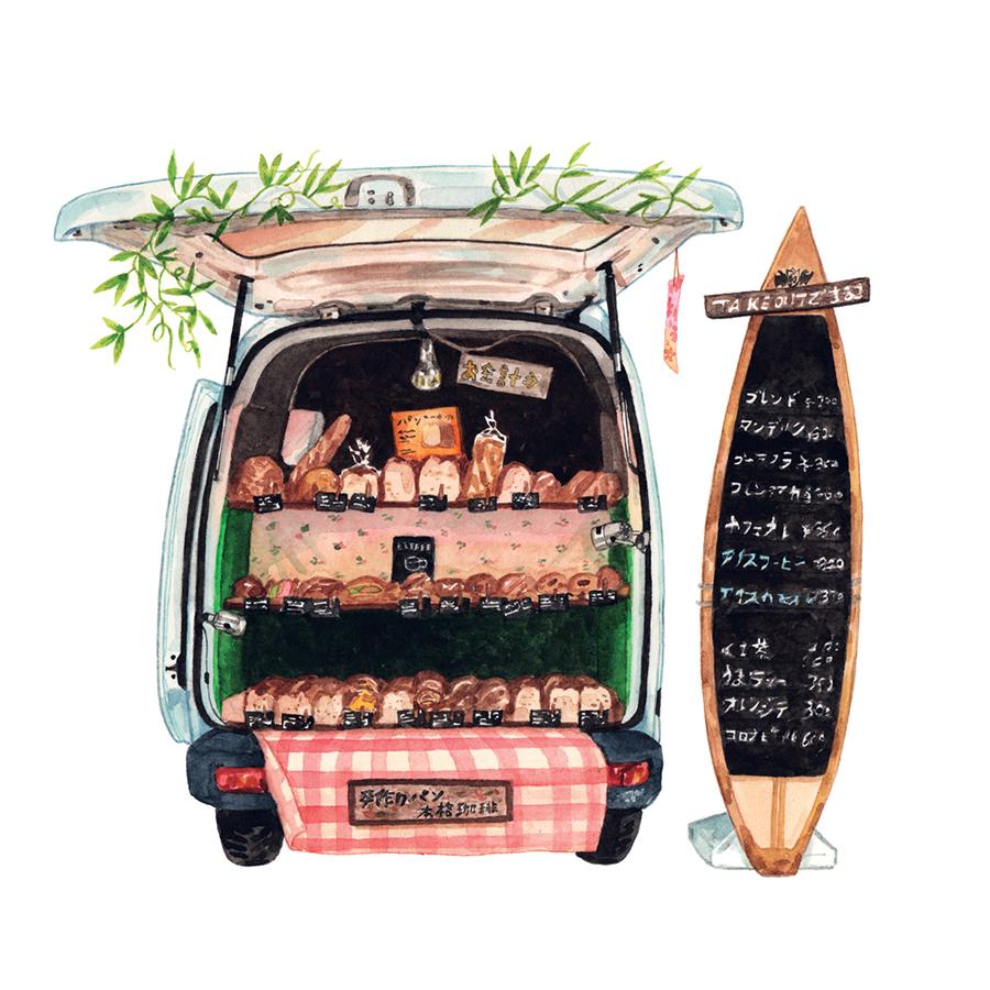 Justine-Wong-Illustration-21-Days-in-Japan-Kamakura-Bread-Truck.jpg